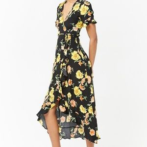 Forever 21 Floral Wrap Maxi Dress - NWT!!!